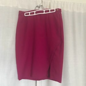 The Limited Pink Magenta Side Slit Pencil Skirt 8